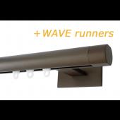 RAILROEDE SINUS.1-W LUXE 25MM BRONS INTERSTIL met 8cm wandsteunen