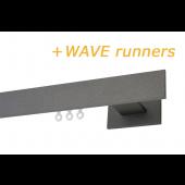 RAILROEDE CODEX-W 35MM ANTRACIET INTERSTIL met 13cm wandsteunen