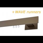 RAILROEDE CODEX-W 35MM BRONS INTERSTIL met 13cm wandsteunen