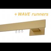 RAILROEDE CODEX-W 35MM MESSING MAT INTERSTIL met 18cm wandsteunen