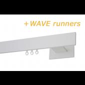 RAILROEDE CODEX-W 35MM WIT INTERSTIL met 8cm wandsteunen