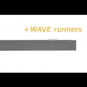 RAILROEDE SPHERE-W 35MM ANTRACIET INTERSTIL - met Wave runners