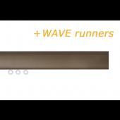 INTERSTIL RAILROEDE TRIM 35MM BRONS met verstelbare plafondsteun - Blinde montage