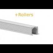 GORDIJNRAILS 216 DECO STUCRAIL - WIT MAT +ROLLERS