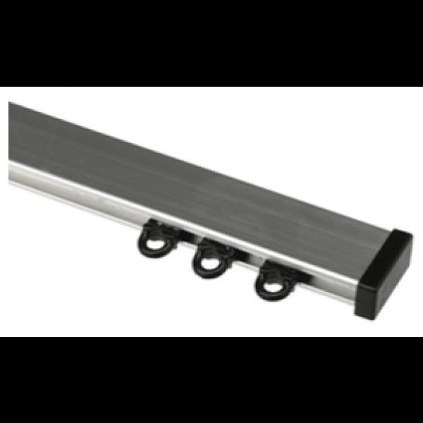 Gordijnrails Robusto Zilver + Zilver Brush - Zware gordijnen