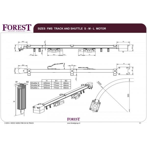 Forest Shuttle L Elektrische gordijnrails met gratis Diamond ...