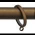 Gordijnring Domino Brons 28mm