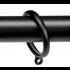 Gordijnring Domino Zwart 28mm