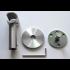 RAILROEDE Roederail MAATWERK XXL Design 28MM - LICHT BRONS - met wandsteun 8cm en eindknop CAP