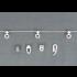 RAILROEDE Roederail MAATWERK XXL Design 22MM - GRAFIET MAT - met plafondsteun 2cm en eindknop KLEINE BOL