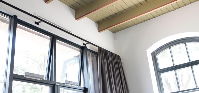 RoedesOnline Interstil railroede Sphare Sphere Sphaere zwart 35mm met 13cm wandsteunen