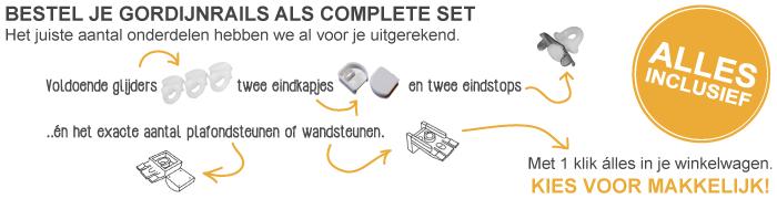 Bestel je gordijnrails als complete set