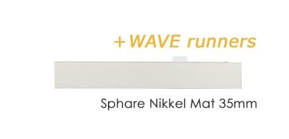 Platte Interstil Railroede Sphäre Nikkel Mat 35mm met wave runners