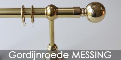 Gordijnroede Messing-Brons