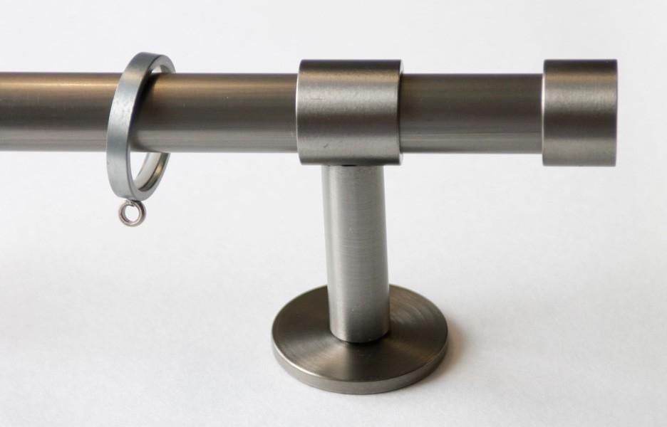 Gordijnroede Steel Raw met eindknop Cap