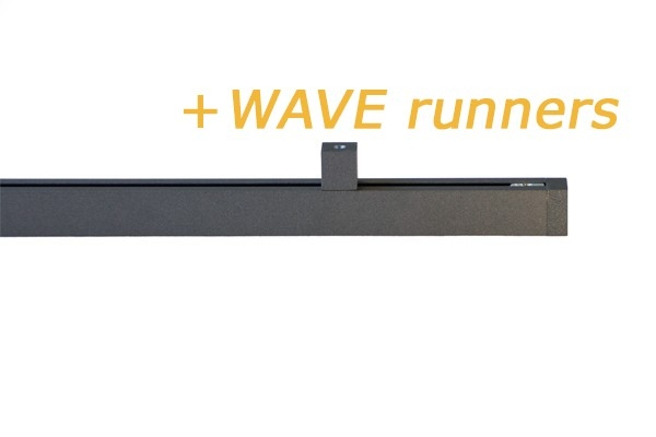 Railroede Cubus 2 Wave Antraciet 20mm