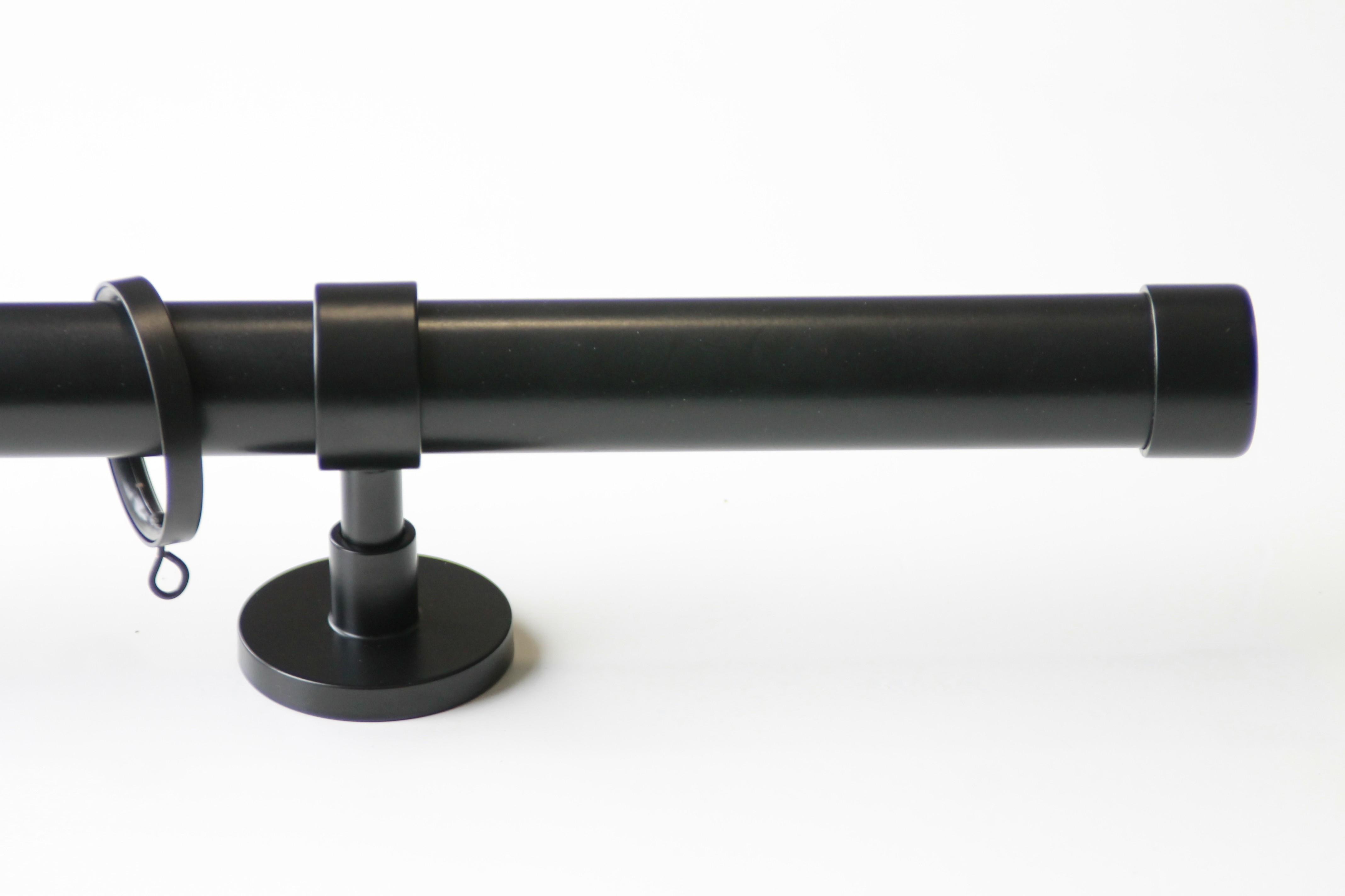Gordijnroede TOPO Zwart 30mm