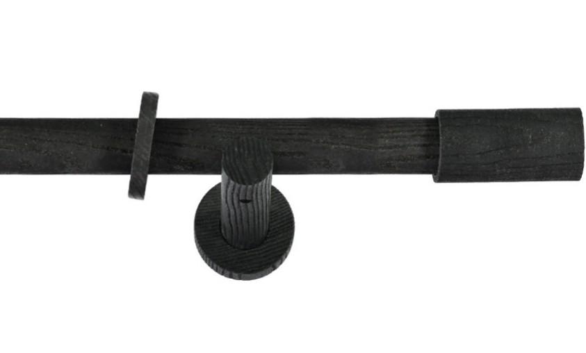 Gordijnroede Hout Cilinder Dark Ash 28mm